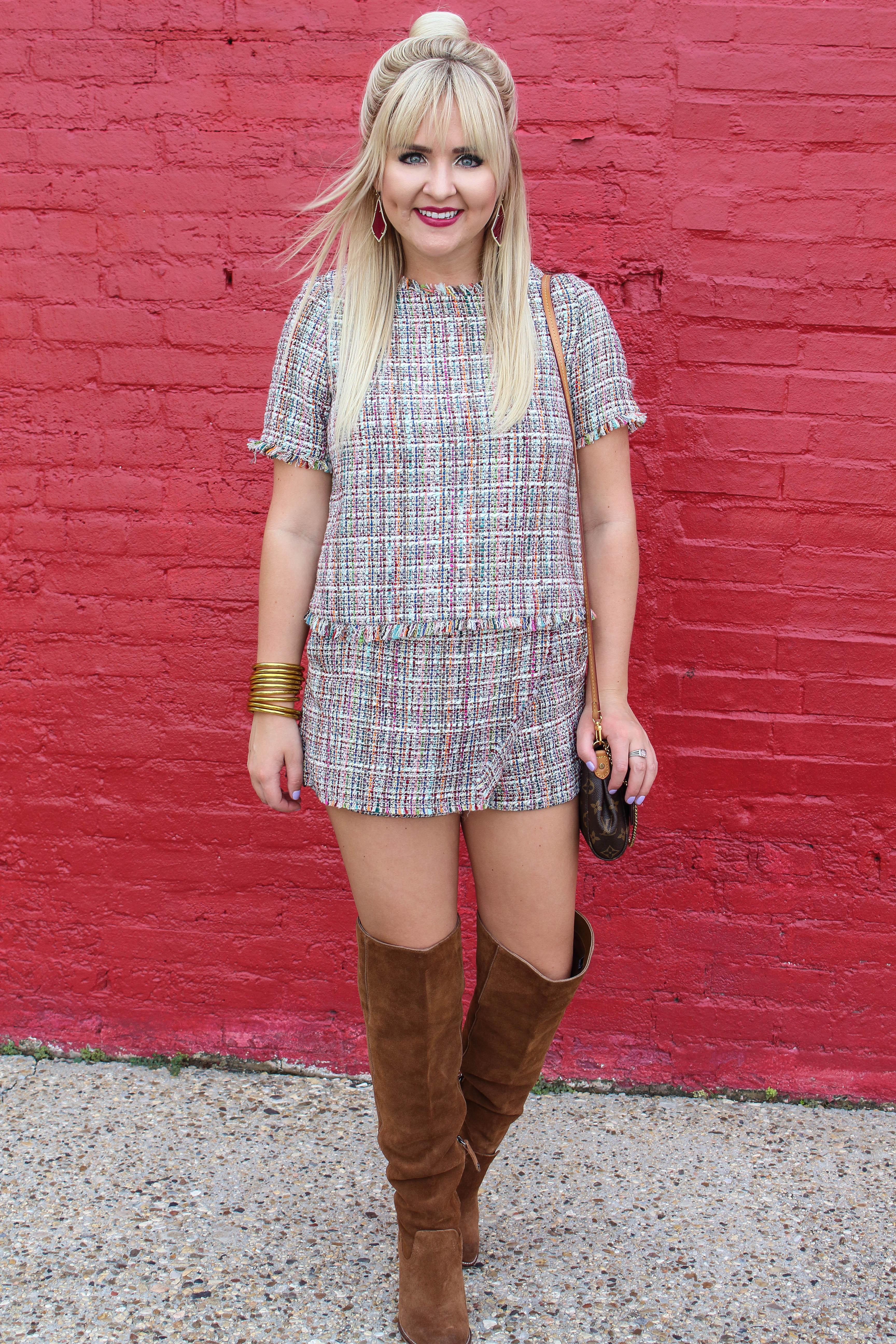 43a8d2fda0 Zara Tweed Set - Sassy Southern Blonde