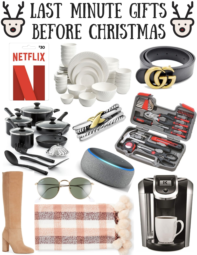LAST MINUTE GIFTS BEFORE CHRISTMAS